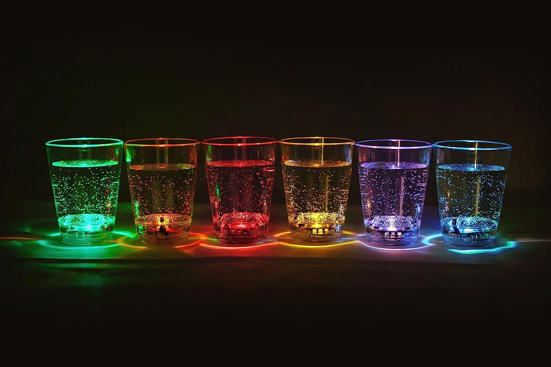 12 Piezas LED illuminados Vasos chupitos para Licor Capacidad Aprox. 6 cl   Fiesta LED Intermitente Vasos de Licor   Boda Fiesta de Año Nuevo Juegos de Beber Vaso de Fiesta de la Marca PRECORN