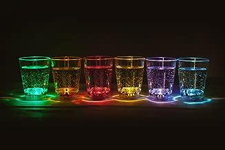 12 Stck. im Set LED beleuchtetes Schnapsglas Fassungsvermögen ca. 6 cl LED Trinkglas Marke PRECORN