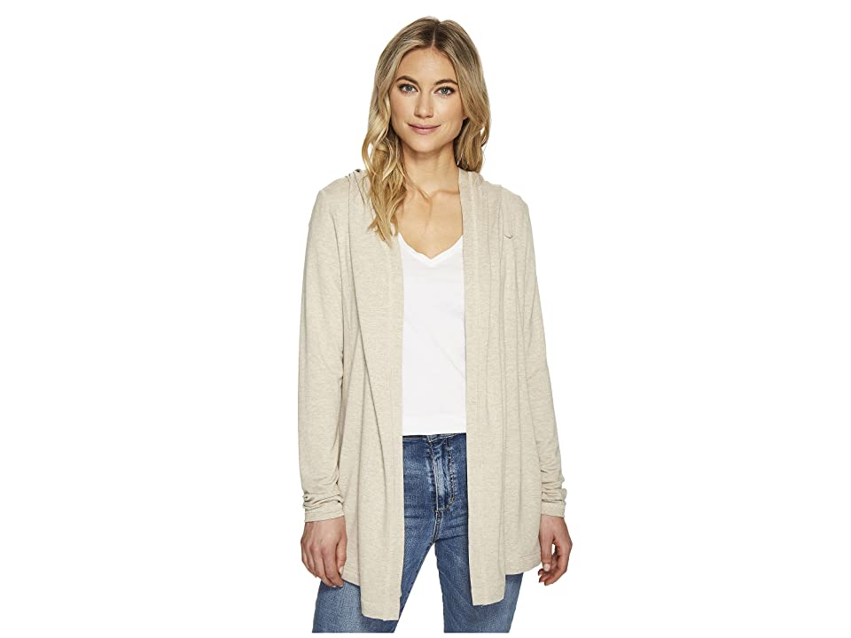 Michael Stars Elevated French Terry Hooded Jacket with Thumbholes (Oatmeal) Women's Coat