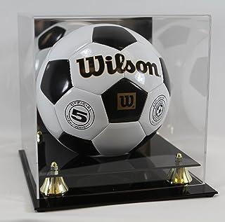 مورد صفحه کلکسیونی UV Deluxe Soccer / Volleyball - با آینه - مورد نمایش ورزش Memorabilia - لوازم جمع آوری