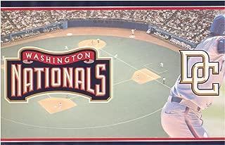 Washington Nationals MLB Baseball Team Fan Sports Wallpaper Border Modern Design, Roll 15' x 6''