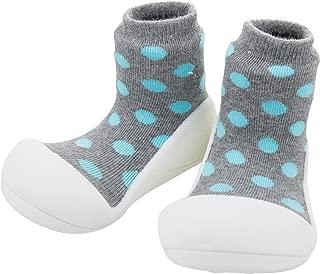 Attipas Baby First Walker Shoes (Medium, Polka Grey)