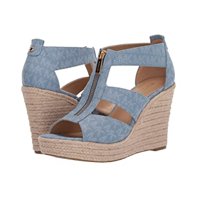 MICHAEL Michael Kors Damita Wedge (Denim) Women