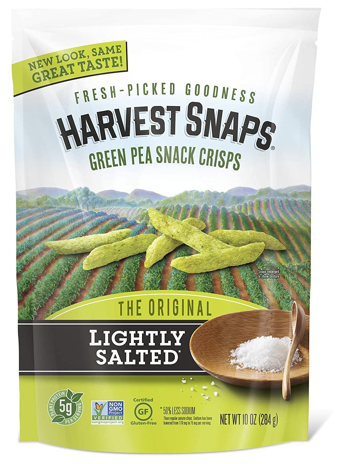 Harvest shipfree Max 41% OFF Snaps Lightly Salted Green Crisps Snack Gluten-Free Pea