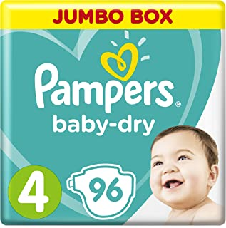 Pampers Baby-Dry, Size 4, Maxi, 9-14 kg, Jumbo Box, 96 Diapers