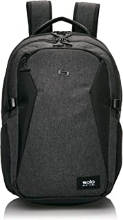 Solo Nomad Unbound Slim Backpack - Fits Up To 15.6-Inch Laptop - Lightweight TSA Checkpoint-Friendly Commuter Laptop Backpack for Women and Men – Grey
