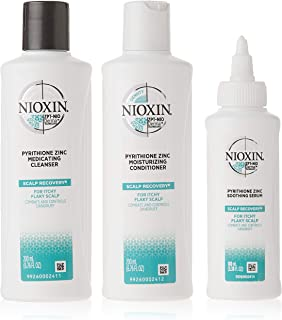 Nioxin Scalp Recovery Kit for Unisex with Cleanser, Moisturizing Conditioner, Soothing Serum