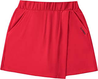 ALAVIKING Girls Athletic Skorts Cotton Active Scooter Skirts with Shorts Running Workout Skorts Skirts Size 3-12 Years