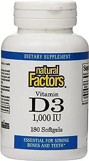 Natural Factors - Vitamin D3 1000 IU, Supports Healthy Bones, 180 Soft Gels