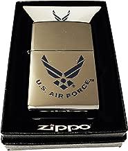 Zippo Custom Lighter - Blue U.S. Air Force Wings Primary Logo - High Polish Chrome