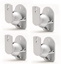 TechSol 4 Pack of Universal Silver Speaker Wall Mount Swivel and Tilt Brackets Complete with Fitting Hardware