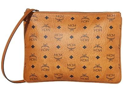 MCM Visetos Original Pouch Medium (Cognac) Bags