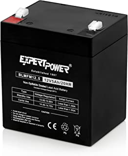 EXP1250 12V 5Ah Home Alarm Battery with F1 Terminals // Chamberlain / LiftMaster / Craftsman 4228 Replacement Battery for Battery Backup Equipped Garage Door Openers