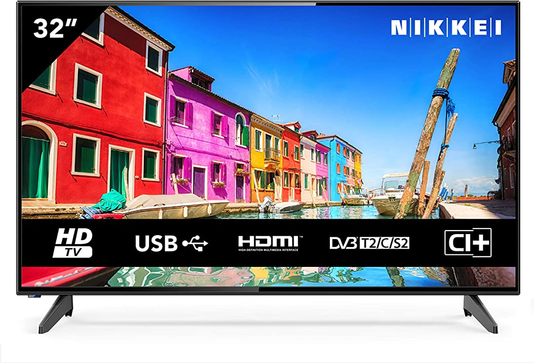 Televisione 32 pollici nikkei nh3214 da 81 cm (tv led 32 pollici hd ready 1366 x 768 1x scart 3x hdmi 2 usb