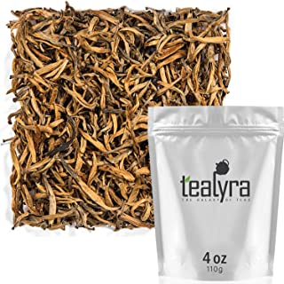 Tealyra - Imperial Golden Monkey - Yunnan Black Loose Leaf Tea - Best Chinese Tea - Organically Grown - Bold Caffeine - 110g (4-ounce)