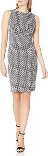 Calvin Klein Women's Sleeveless Textured Sheath Dress