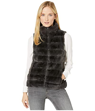 Dylan by True Grit Faux-Fur Love Vest with Matching Lining (Vintage Black) Women