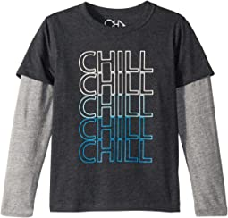 Super Soft Chill Twofer Long Sleeve Tee (Little Kids/Big Kids)