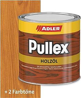 ADLER Pullex Holzöl Außen - Universell einsetzbar für senkrechte Holzflächen im Außenbereich - Holzpflege & Holzschutz auf Basis natürlicher, veredelter Öle - Farbe Lärche 750 ml