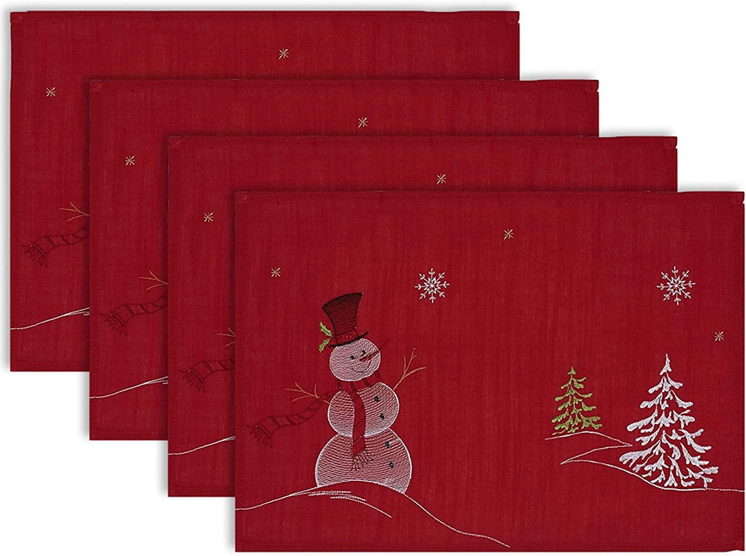 DII Fashion 100% Polyester Christmas 13x Placemats Overseas parallel import regular item Holiday Embroidered