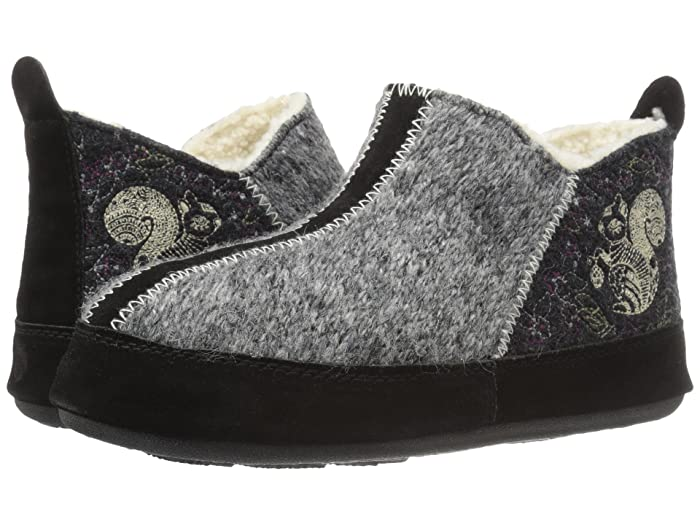 Image of Forest Animal Bootie Slippers for Women - Owl or Squirrel