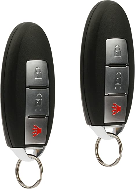 Set of 2 Key Fob Keyless Entry Remote fits Nissan Frontier Armada Murano Pathfinder Quest Sentra Titan Versa Xterra // Infiniti QX4 FX35 FX45 KBRASTU15 Red