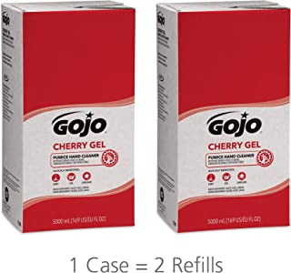 GOJO Cherry Gel Pumice Hand Cleaner, Cherry Fragrance, 5000 mL Heavy Duty Hand Cleaner