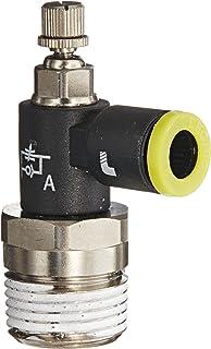Legris 7625 56 11 Nylon Air Flow Control Valve Meter-Out 1//4 Tube OD x 1//8 NPT Male 1//4 Tube OD x 1//8 NPT Male Parker Legris 90 Degree Elbow Slotted Screw