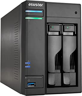 ASUSTOR AS6302T, 2 Bay NAS (Diskless) Intel Celeron Dual-Core 2.0GHz Processor, 2GB DDR3L RAM