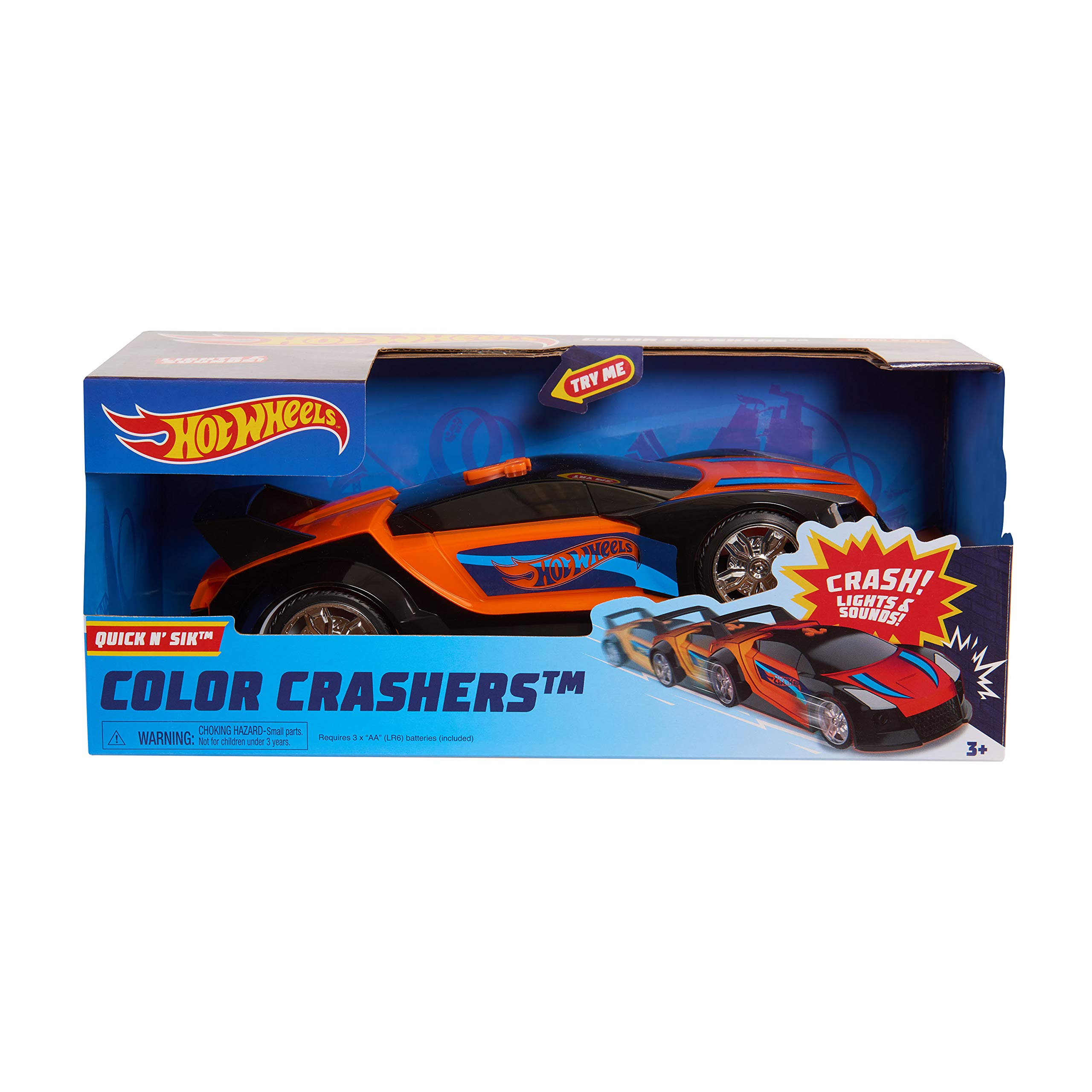 Hot Wheels Color Crashers Asst. Multi-color Quick N/' Sik