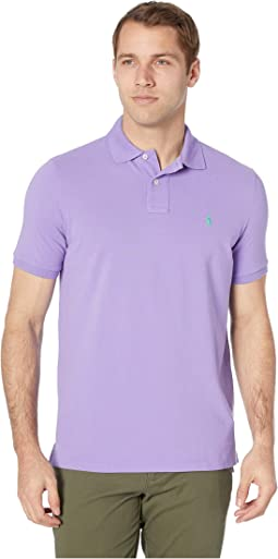 8a859ac02fc4 Lacoste short sleeve 5 button stretch pique polo shirt tanzanite ...