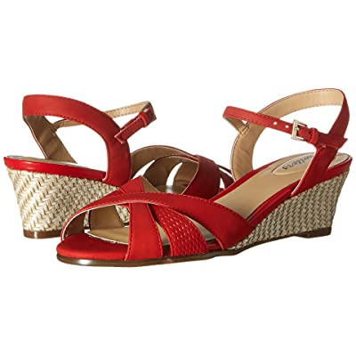 Trotters Mickey (Red Diamond Perf Nubuck Leather/Smooth Nubuck Leather) Women