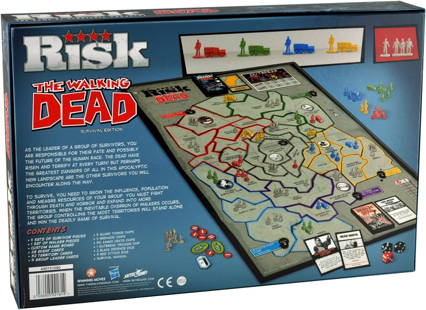 Game of Thrones Risk Board Game Mehrfarbig