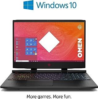 "HP Omen 15-dc1000ne Laptop, Intel Core i7 8750H 2.2 GHz Processor, 15.6"" Inch FHD, 1 TB HDD+256 GB SSD, 32 RAM, NVIDIA GeForce RTX 2070 Graphics, English - Arabic Keyboard Win 10, Black Laptop 1024"