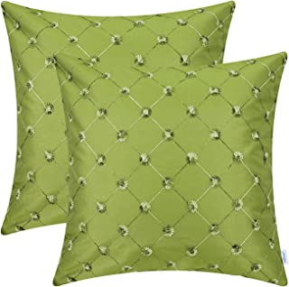 CaliTime Pack of 2 Cushion Covers Throw Pillow Cases Shells for Sofa Couch Home Decoration 18 X 18 Inches Modern Diamonds ...