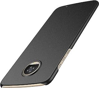 Arkour Moto Z2 Play Case, Minimalist Ultra Thin Slim Fit Non-Slip Matte Surface Hard PC Cover for Motorola Moto Z2 Play (Gravel Black)