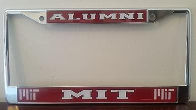 Massachusetts Institute of Technology Alumni On Red Chrome License Plate Frame