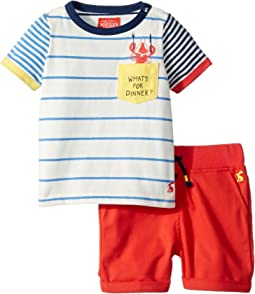 What's For Dinner Woven Shorts Set (Infant)