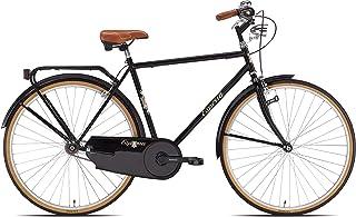 Esperia Bicicletta da città Retrò, Uomo, 28, Nera
