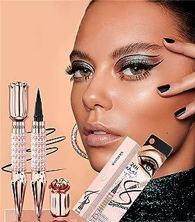 Shiny Diamond Color Liquid Eyeliner Waterproof Magic Eyeliner Pen, Diamond Self-adhesive Eyeliner Pen, Black Natural Long ...