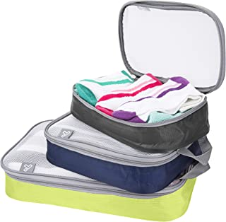 Travelon Set of 3 Packing Organizers, Bold, One Size