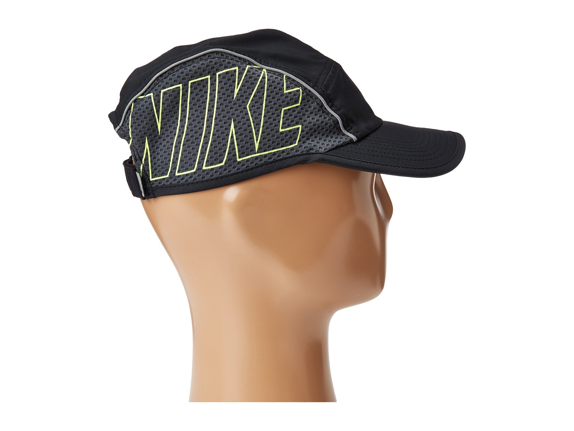 Shop Nike Aerobill Aw84 Running Cap In Black Anthracite Volt eba3e09db07c