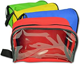 Lightning X Color Coded First Aid Medical Kit Accessory Pouches - Zippered Bag w/Transparent Window - Set of 4