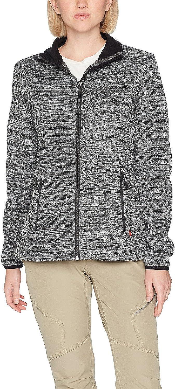 VAUDE Women's Rienza Jacket IIWarm Fleece Jacket for HikingPerfect as a Base LayerKnitted Look