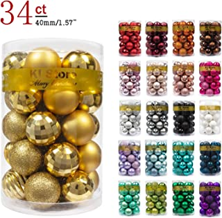 KI Store 34ct Christmas Ball Ornaments 1.57