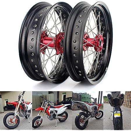 Tarazon Supermoto Wheel Set Wheel Rims Wheels Wheel Hub Set 3 5 X 17 Inch Front Wheel 5 0 X 17 Inch Rear Wheel For Sx Sxf Exc Sxs Xc 125 530 Auto