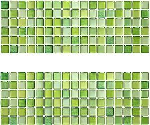 Beaustile Soft Green Mosaic 3D Wall Stickers 2 Sheets Home Decor Art Fire Retardant Backsplash Wallpaper Bathroom Kitchen DIY