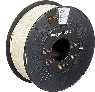 Amazon Basics Filament PLA pour imprimante 3D, 1,75mm, Blanc perle, Bobine, 1kg