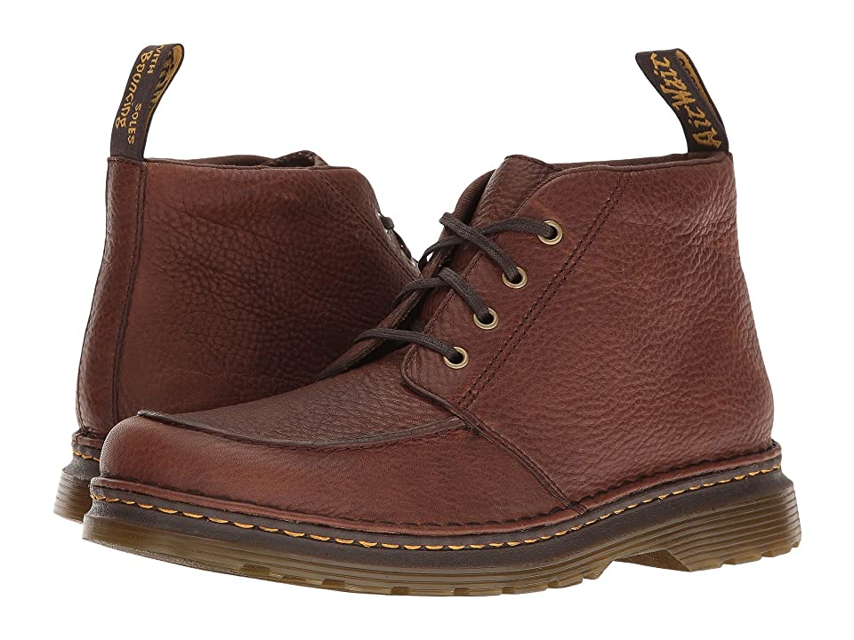 Mens Vintage Style Shoes| Retro Classic Shoes Dr. Martens Austin Dark Brown Grizzly Mens Boots $120.00 AT vintagedancer.com