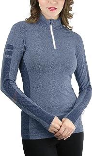 ToBeInStyle Women's 1/4 Zip up Long Sleeve Active Pullover Top